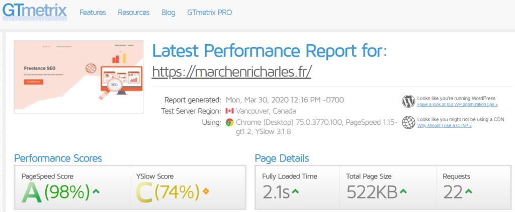 Comment optimiser son site Gtmetrix