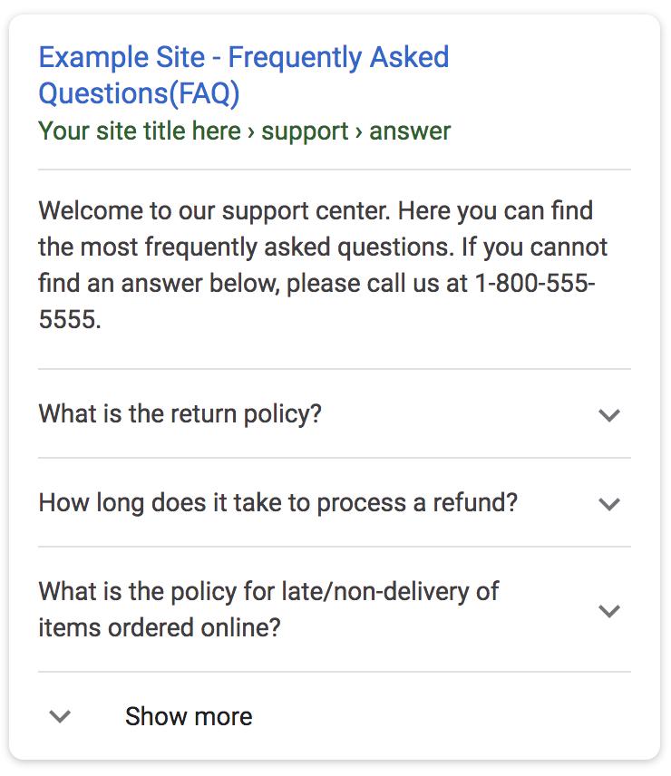 Données structurées FAQ